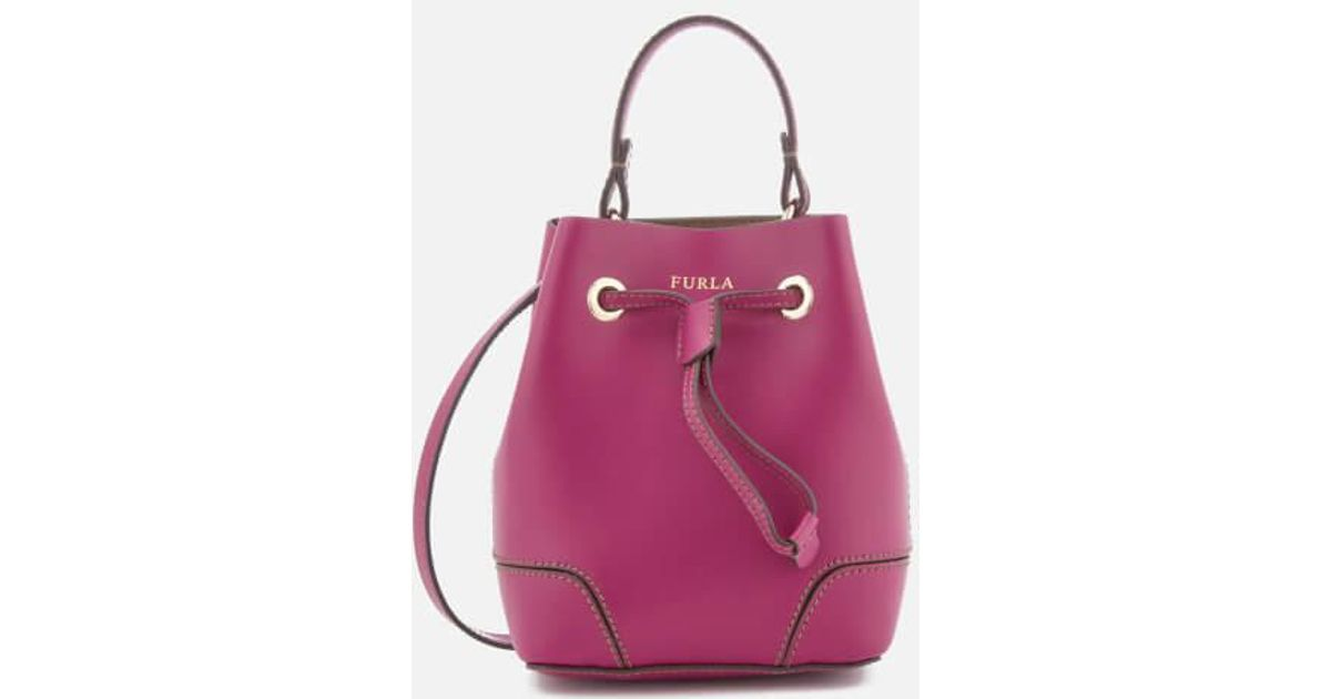 Clearance Pick A Best Stacy Small Drawstring Bag in Fuchsia Calfskin Furla Discount Free Shipping High Quality For Sale Clearance Best Sale Bulk Designs VEf8VPqi2D
