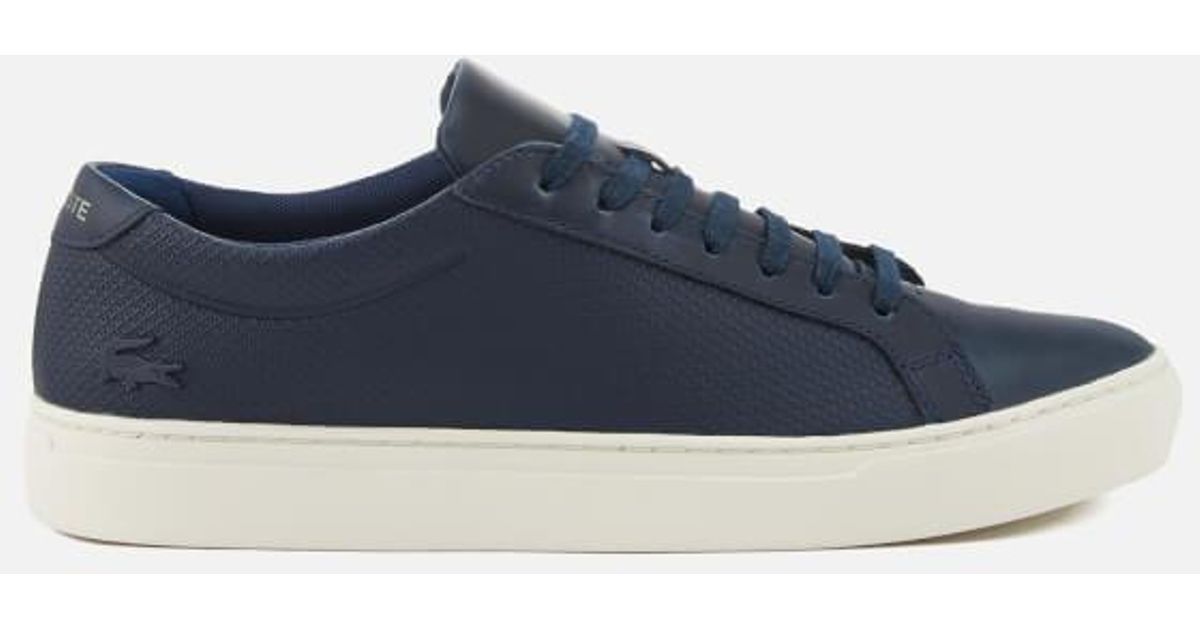 0555a258a743df Lyst - Lacoste Men s L.12.12 113 Leather Cupsole Trainers in Blue for Men
