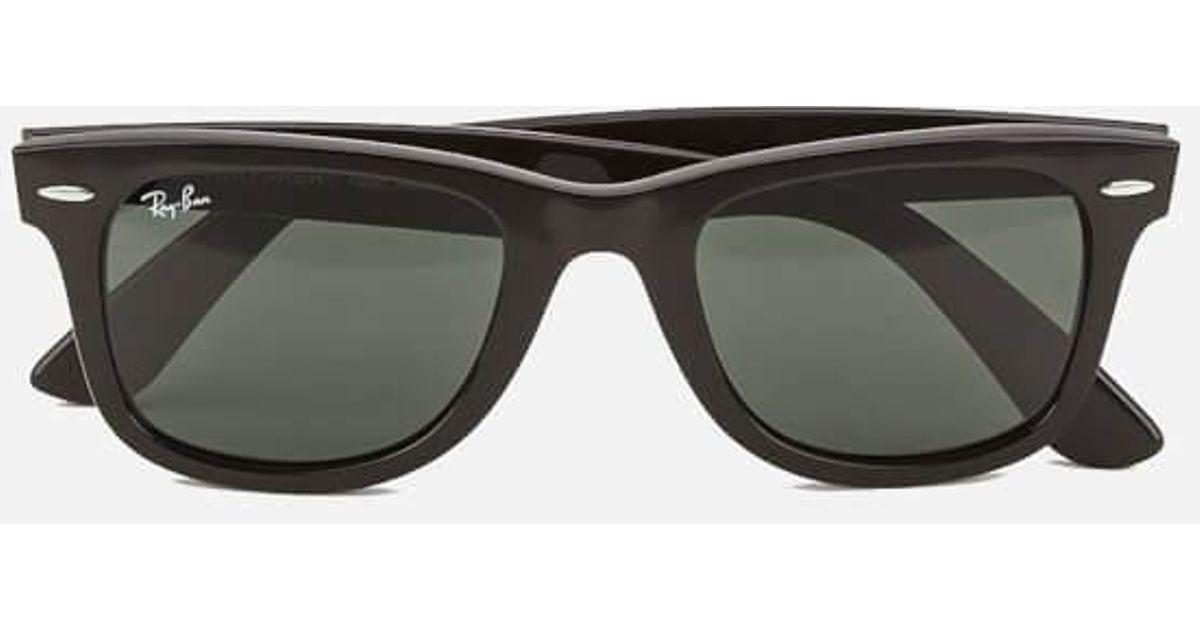 37cacc2ba7b90 Ray-Ban Rayban Original Wayfarer Sunglasses Black in Black for Men - Lyst