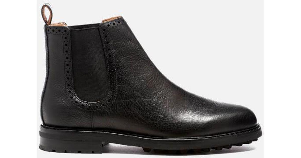 314a8518f1c Polo Ralph Lauren Black Men's Numan Tumbled Leather Chelsea Boots for men