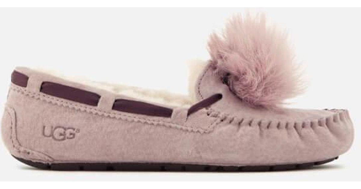 b97e3e6371f Ugg - Pink Women's Dakota Moccasin Suede Slippers - Lyst