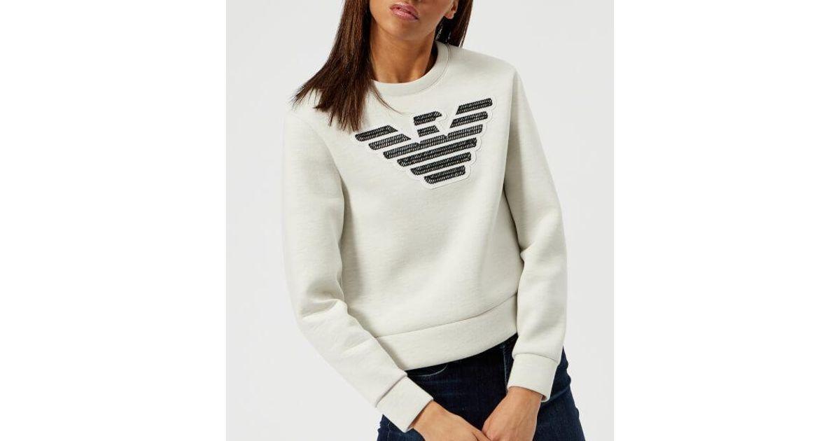 c3ce286626 Emporio Armani Gray Women's Large Eagle Logo Sweatshirt