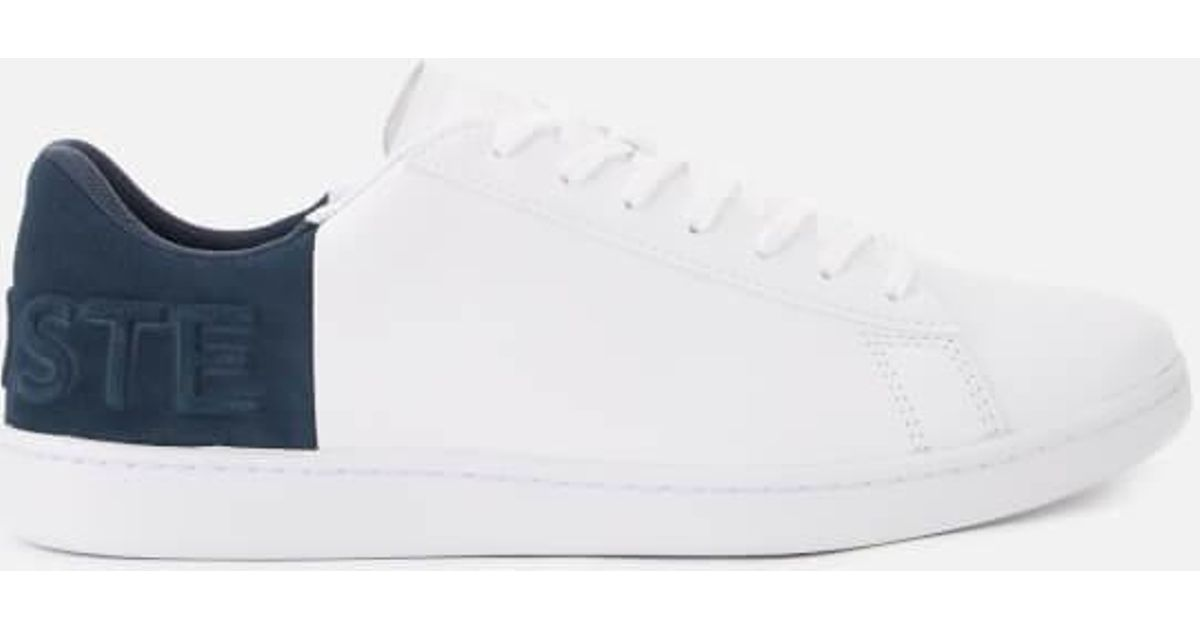 83cd94873fd15b Lyst - Lacoste Men s Carnaby Evo 318 6 Leather suede Trainers in White for  Men