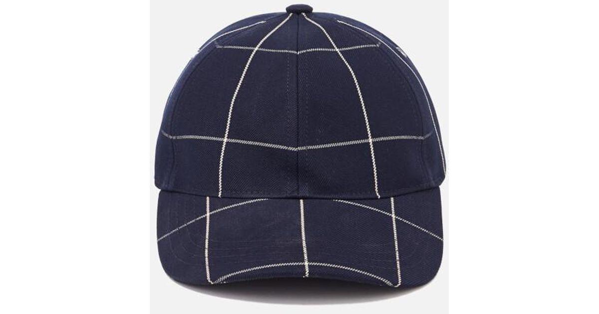 ... brixton alex hat in gray 10ed8 fcd5d switzerland a.p.c. blue mens  casquette alex cap for men lyst 526fb 674a0 ... 2785abb56a1f