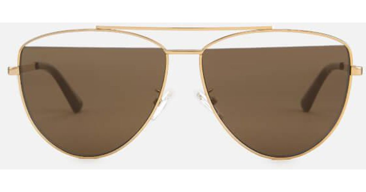 5c489b1c71 Lyst - Mcq Alexander Mcqueen Women s Metal Aviator Style Sunglasses in  Metallic