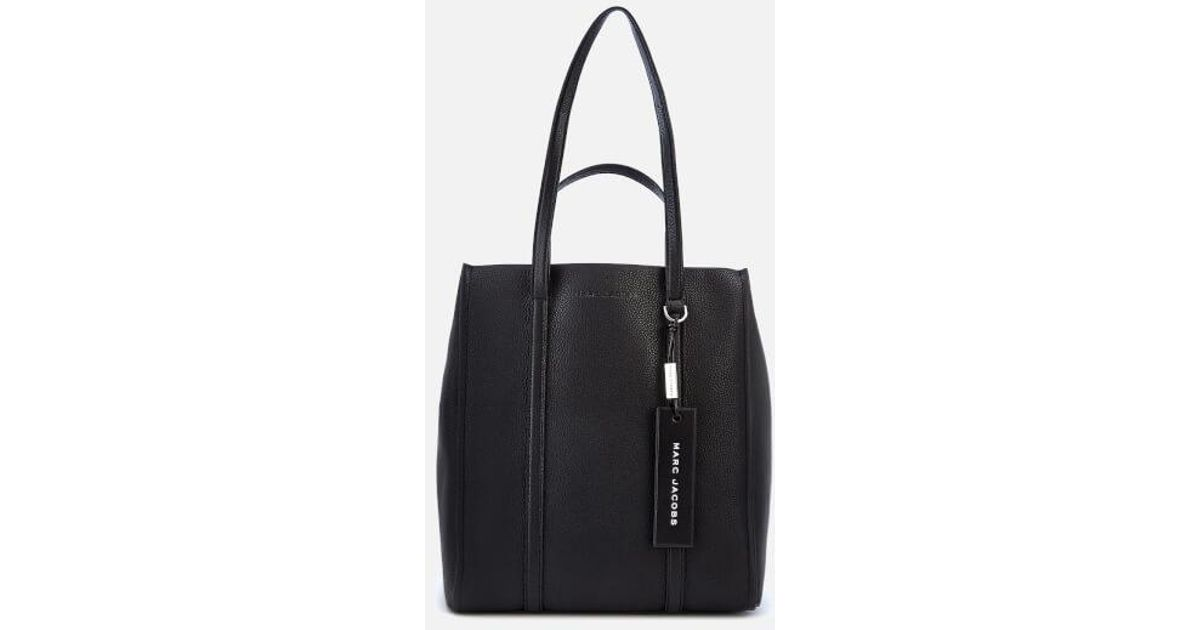 44711a2c301e Marc Jacobs Women s The Tag Tote 31 Bag in Black - Lyst