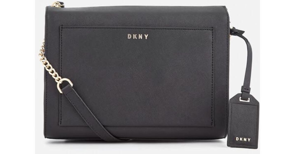 b8e168aa1841 DKNY Women s Bryant Park Medium Box Cross Body Bag in Black - Lyst
