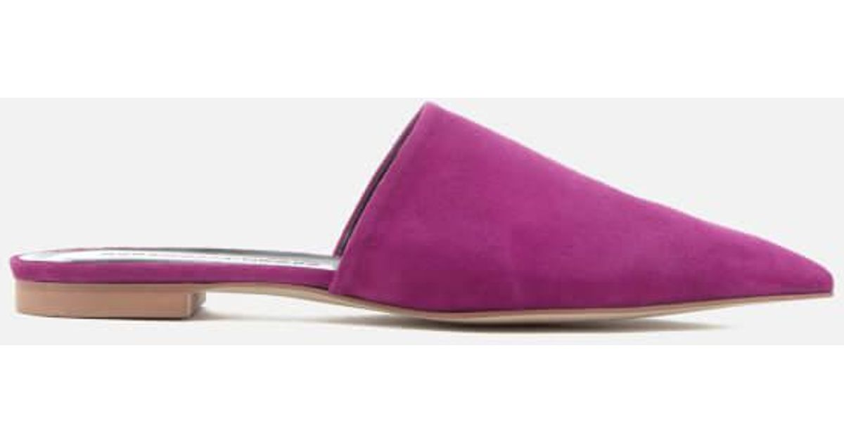 9bbf6370278d9 Rebecca Minkoff Sara Suede Pointed Mules in Pink - Lyst