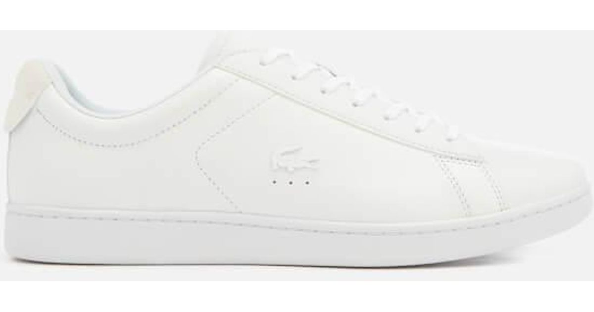 85b0833a9fb1e Lyst - Lacoste Men s Carnaby Evo 318 7 Croc Leather Trainers in White for  Men