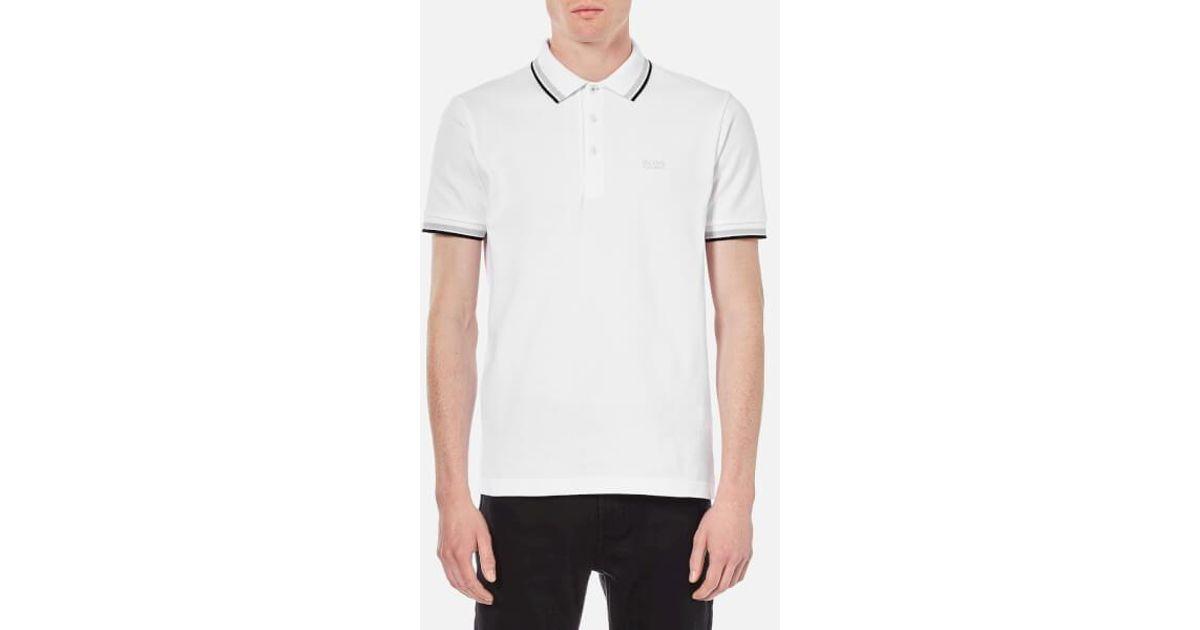 964b7ea8145e Lyst - BOSS Green Men s Paddy Basic Polo Shirt in White for Men