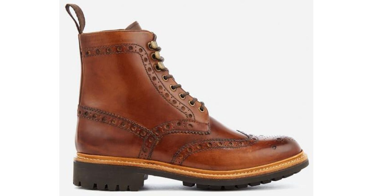 Grenson FRED COMMANDO - Lace-up boots - black