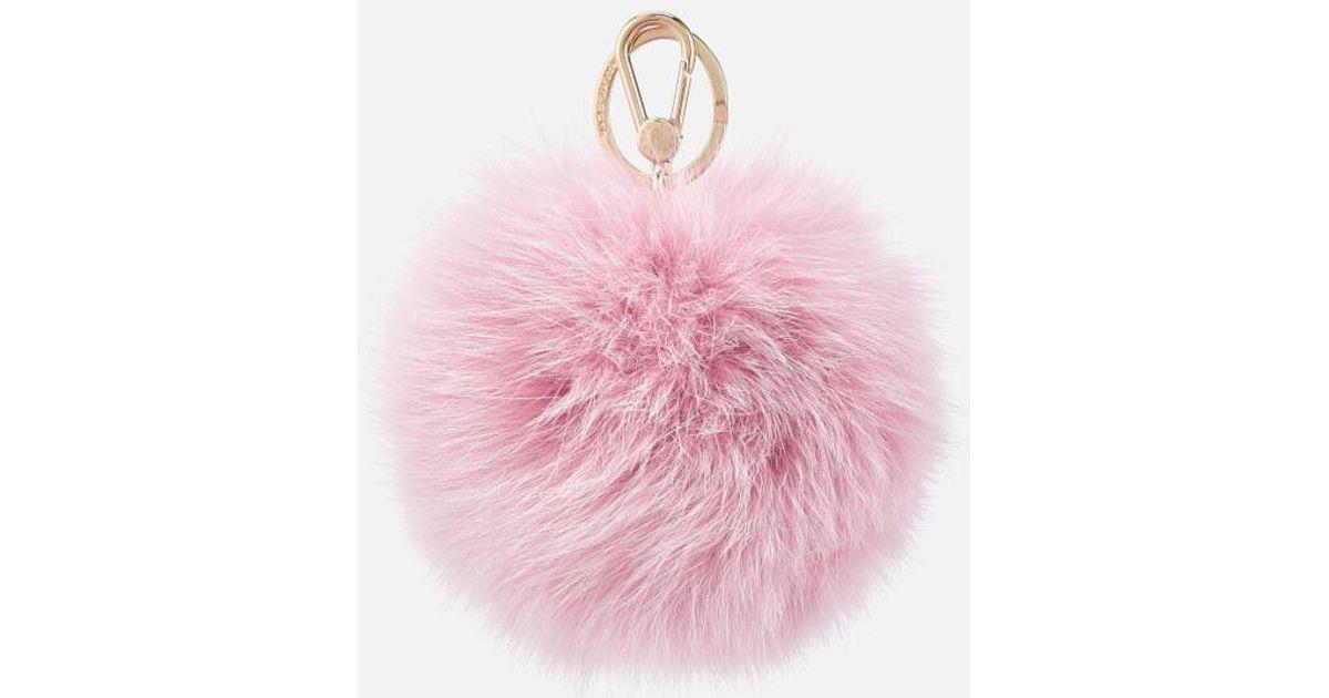 Furla Women s Bubble Pom Pom Keyring in Pink - Lyst eb648cf93