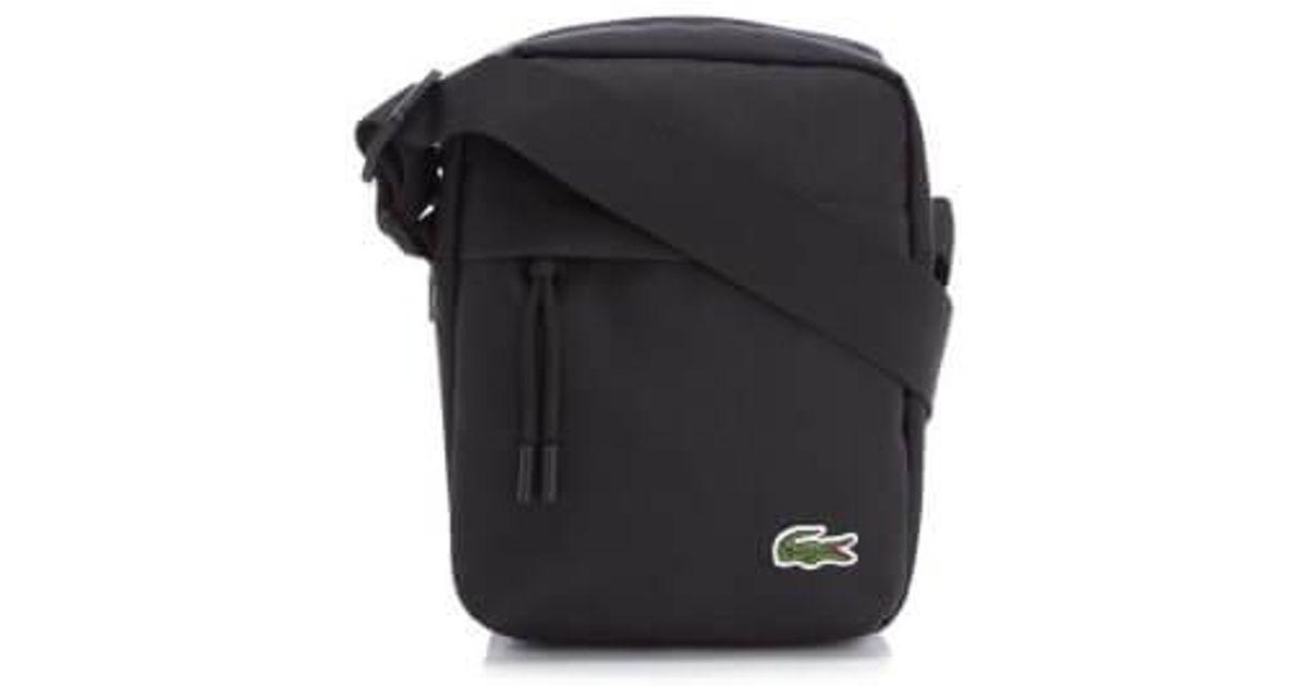 1b51daae Lacoste Black Men's Vertical Camera Bag for men