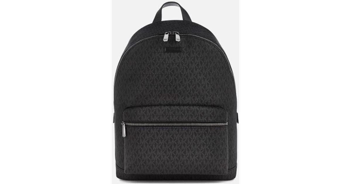 160cc8798d14 ... official store lyst michael kors mens jet set logo backpack in black  for men 0cf03 47e16