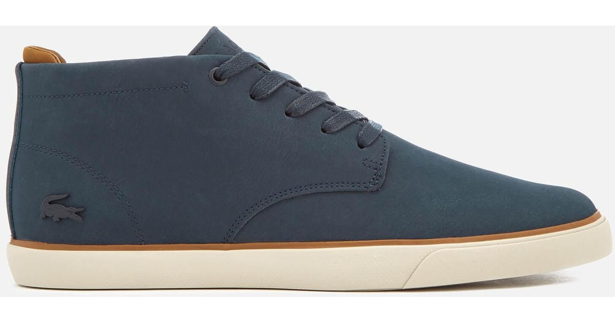 85c8324ed8f Lacoste Blue Esparre Chukka 318 1 Leather/suede Derby Chukka Boots for men