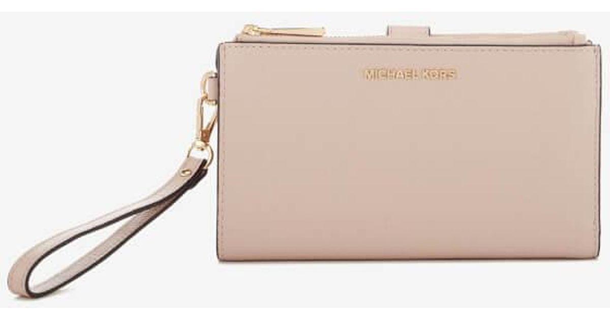f0c2a071bece Lyst - MICHAEL Michael Kors Women's Double Zip Wristlet in Pink