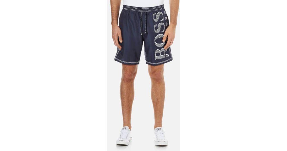 Hugo Boss Mens Killifish Navy Trunk Shorts Swimwear