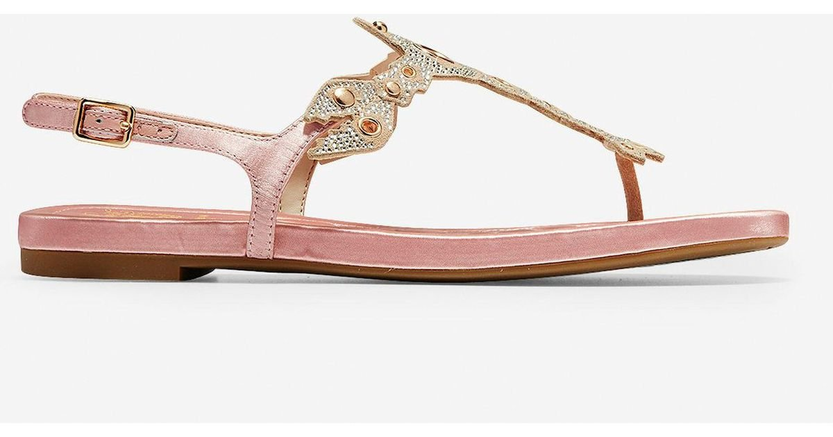 a475b6240b9 Lyst - Cole Haan Pinch Lobster Sandal in Pink