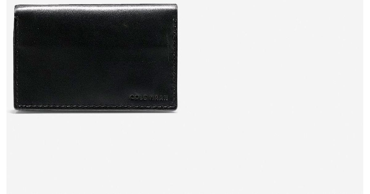 Lyst - Cole Haan Washington Grand Business Card Case in Black for Men