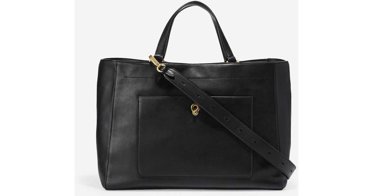 7799362422ba Lyst - Cole Haan Zoe Work Tote in Black