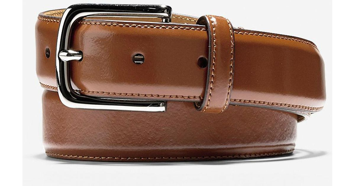 91b5c6f1f66 Cole Haan 32mm Shine Dress Belt in Brown for Men - Lyst