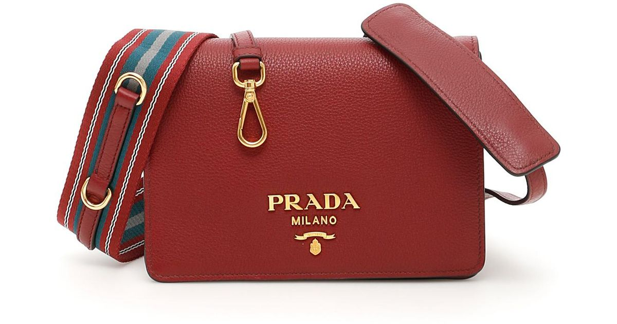 498a97dd860416 Prada Deer Print Bag in Red - Lyst
