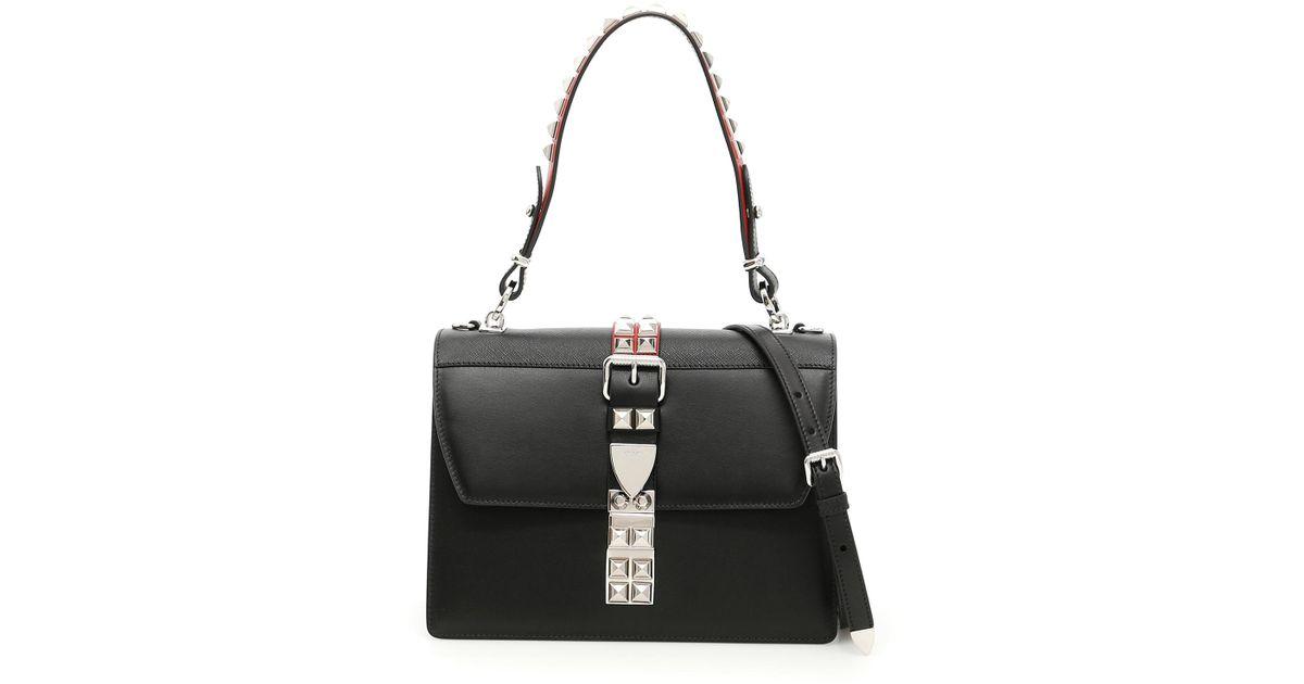 0ad9421f3487 ... Lyst - Prada City Calf And Saffiano Bag in Black new style 1f4fa d0dd7  ...