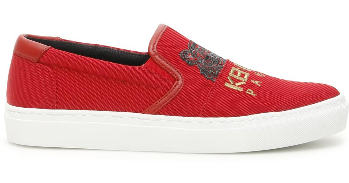 790fdc4a KENZO Chinese New Year K-skate Slip-ons in Red - Lyst