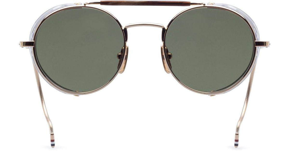 77ceda0362fab Thom Browne Unisex Sunglasses in Metallic for Men - Lyst
