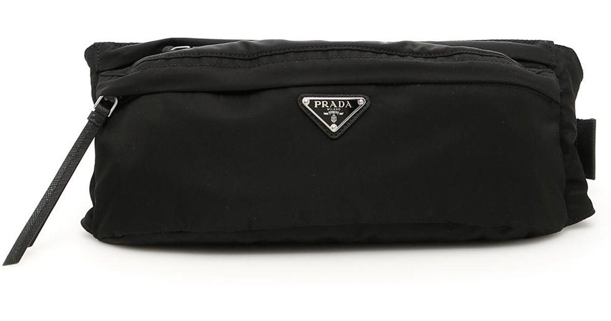 5dc37284 Prada Black Nylon Fanny Pack