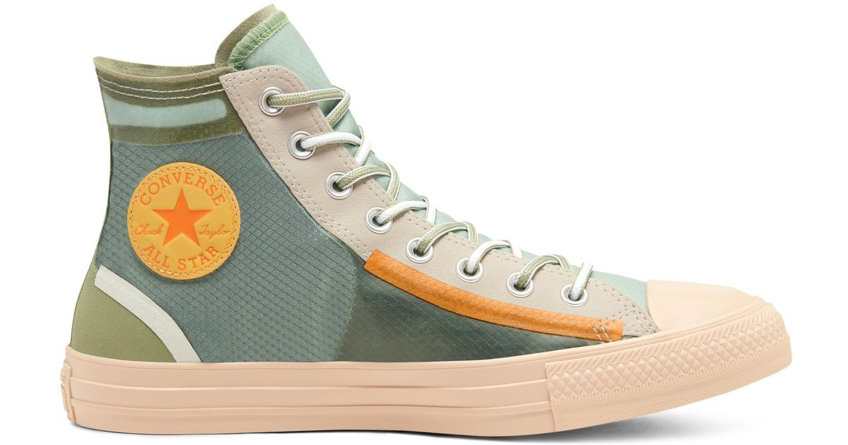 Converse Green Translucent Mesh Utility Chuck Taylor All Star for men