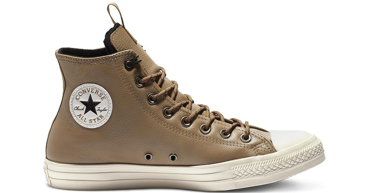15030bd37d2 Converse Chuck Taylor All Star Desert Storm Leather High Top in Brown for  Men - Lyst