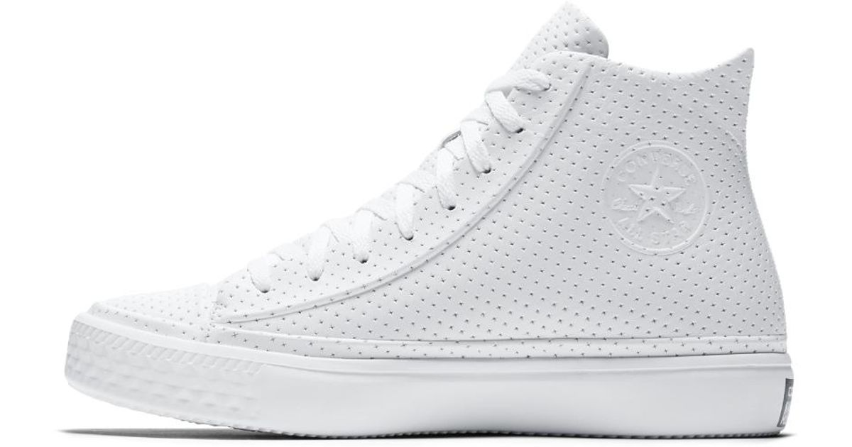 abf7d554e3b3ff Lyst - Converse Chuck Taylor All Star Modern Leather High Top Men s Shoe in  White for Men