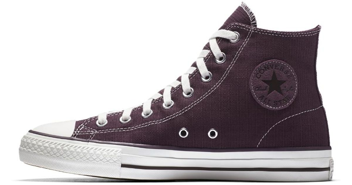 324a556eca8543 Lyst - Converse Chuck Taylor All Star Pro Suede High Top Men s Shoe in  Purple for Men