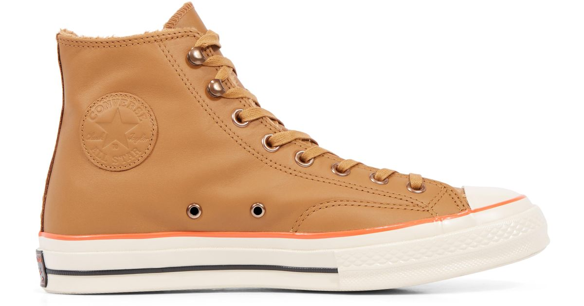 Converse Chuck 70 Street Warmer Leather High Top in Blue - Lyst c29bef126