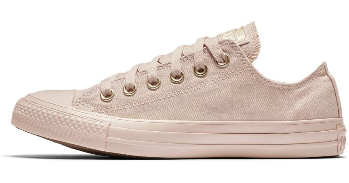 9688ac47742c Lyst - Converse Chuck Taylor All Star Mono Glam Low Top Women s Shoe in Pink
