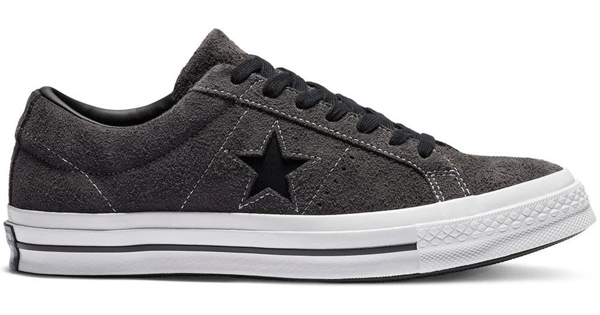 b8048878956f Converse One Star Dark Star Vintage Suede Low Top in Black for Men - Lyst