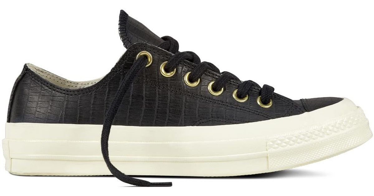 623adf55969f Converse Chuck Taylor All Star  70 Reptile Leather in Black for Men - Lyst