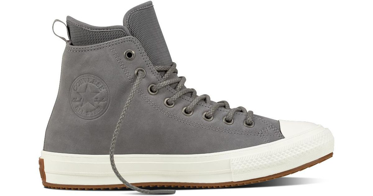 0096112daca Converse Chuck Taylor All Star Waterproof Nubuck Boot in Gray for Men - Lyst