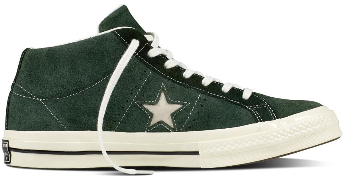 3843c9572d6502 ... uk converse one star mid vintage suede in green for men lyst 20621 39572
