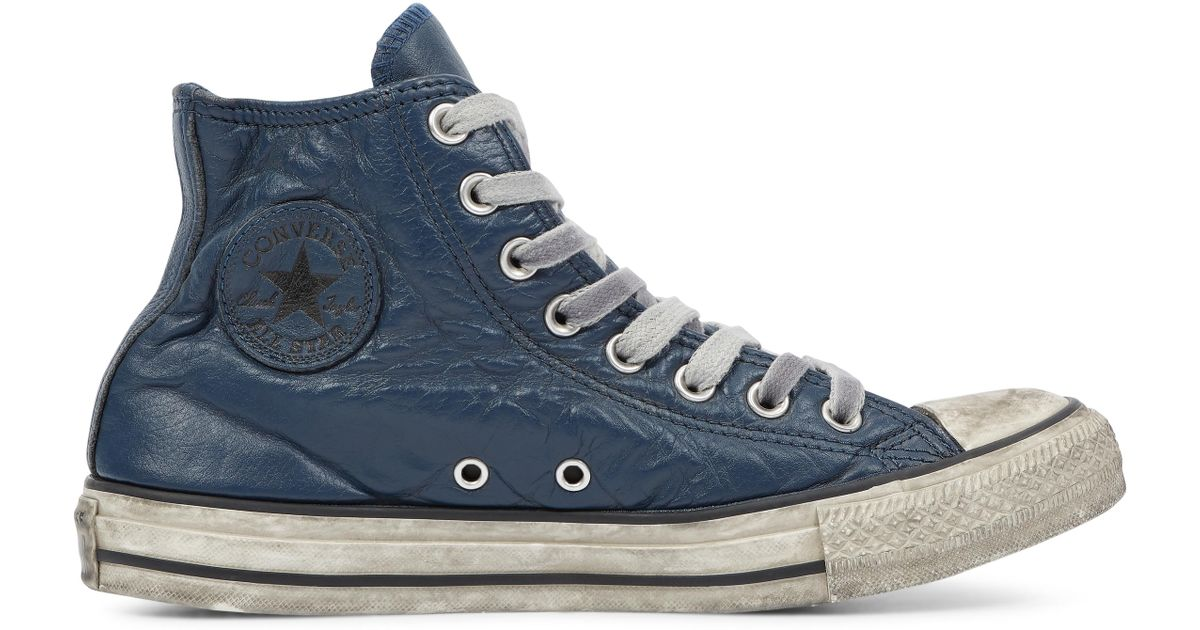 7f32d0263c3d Converse Chuck Taylor All Star Vintage Leather High Top in Blue for Men -  Lyst