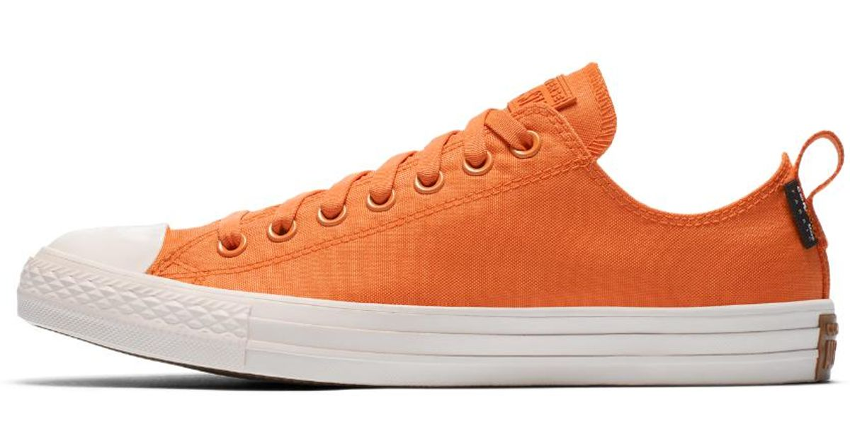 reputable site 4c19e cde62 Converse Chuck Taylor All Star Cordura Low Top Shoe in Orange - Lyst