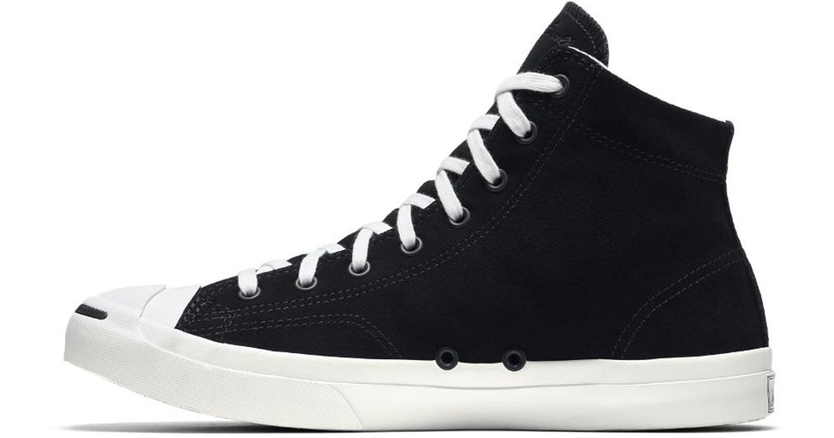 0a462b85cdc2 Lyst - Converse Jack Purcell Jack Suede High Top Men s Shoe in Black for Men
