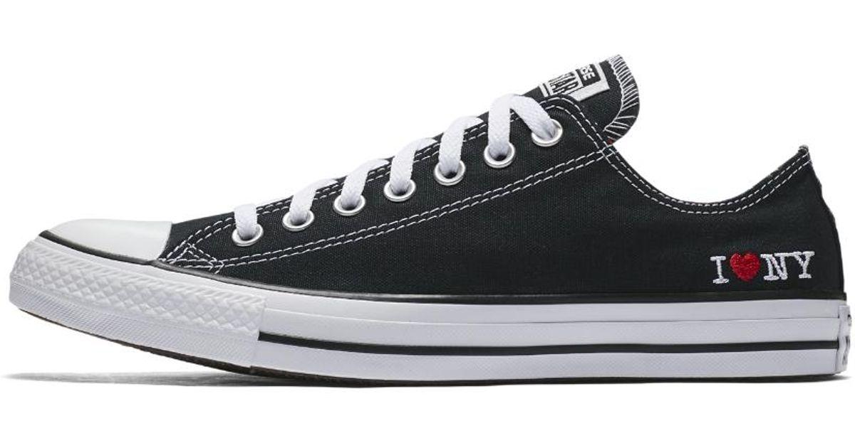 wyprzedaż jakość Nowa lista Converse Black Chuck Taylor All Star I Love Ny Low Top Shoe for men