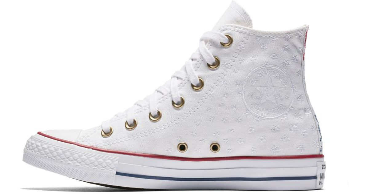 8c64a893342 Lyst - Converse Chuck Taylor All Star Americana Embroidery High Top Women s  Shoe in White