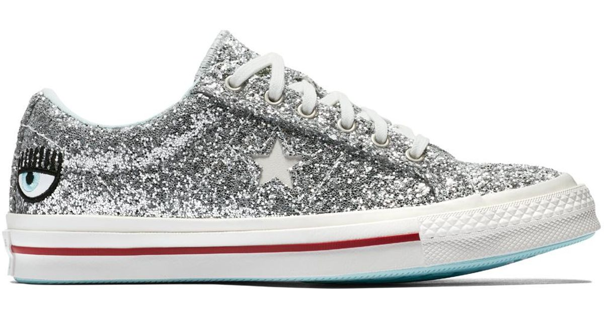 dirt cheap look out for the best Converse Multicolor X Chiara Ferragni One Star Glitter for men