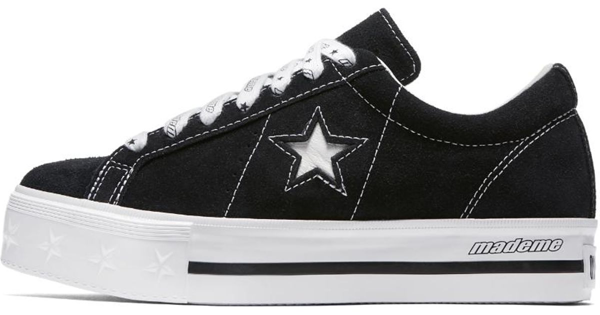 Lyst - Converse X Mademe One Star Platform Low Top Women s Shoe in Black 4685037ae