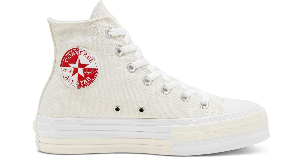 Converse Rivals Platform Chuck Taylor All Star in Brown - Lyst