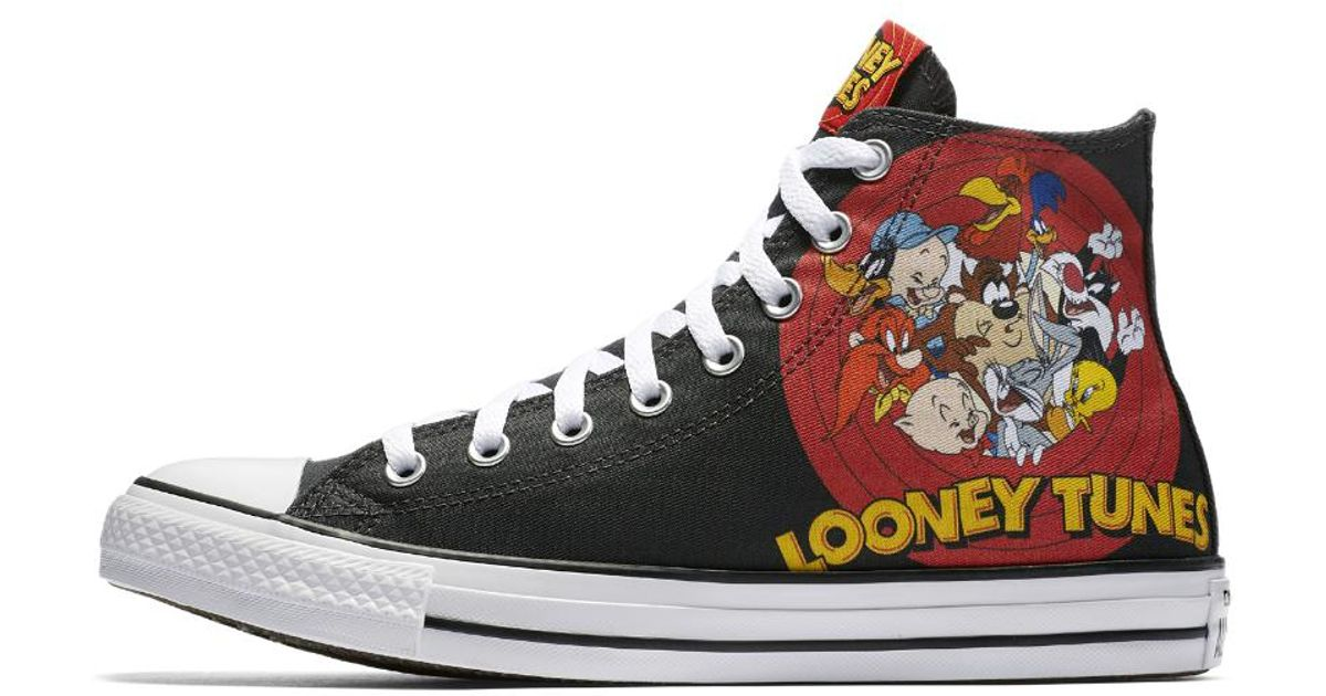 f810aaed734bd Converse Black Chuck Taylor All Star Looney Tunes High Top Shoe for men