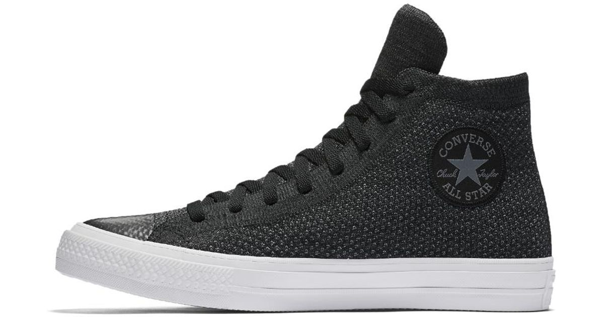 cef8d17a52ed Lyst - Converse Chuck Taylor All Star X Nike Flyknit High Top Shoe in Black  for Men